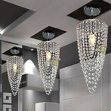 1Pcs Crystal chandelier lighting fixture ceiling Lamp Dining Room Pendant light