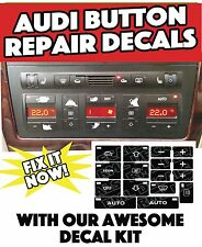 AUDI A4 S4 B6 CLIMATE CONTROL BUTTON RESTORATION STICKERS