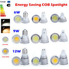Dimmable 6W 9W 12W MR16 E27 GU10 COB LED Spot Light Downlight Lamp Bulb Bombilla