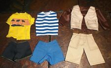 BARBIE DOLL CLOTHES - 3 PAIRS of KEN SHORTS w/ 3 SHIRTS