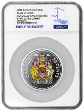 2016 Canada 50c 5 oz. Silver Big Coin Series Coat Arms NGC PF69 UC ER SKU42700