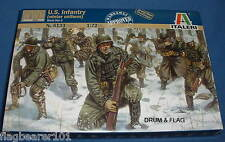 ITALERI 6133 - U.S. INFANTRY WINTER UNIFORM WWII. 1:72 SCALE UNPAINTED PLASTIC