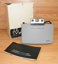 Vintage Polaroid Automatic 220 Instant Film Land Camera Body Only w/ Manual