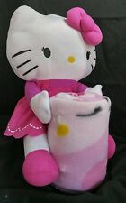Sanrio Hello Kitty Set Throw (40x50) & Pillow Plush Doll By Northwest