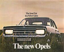 Opel 1968-69 UK Market Foldout Brochure Kadett B Olympia GT Rekord C Commodore A