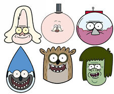 Regular Show Variety Card Party Face Masks 6 Pack. Mordecai Rigby Pops and more!