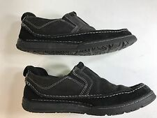 CLARKS Casual Slip-On Loafer Moccasin Shoes Black Leather #72162 Men's Sz 9.5M