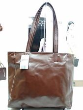 NWT LATICO Satchel Tote Brown Leather W/Organizer Top Zip Entry