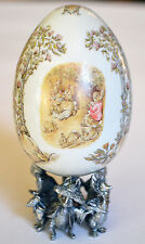 MIB Franklin Mint Beatrix Potter Flopsey Bunnies Porcelain Egg 100 Anniversary