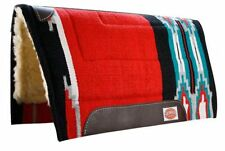 Showman 32 x 34 Horse Saddle Pad Fleece Bottom Cutter Style RED New Horse Tack