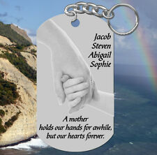 Hands Pic, MOM Keychain Gift!  Personalized for FREE w' kids names ~ Mother