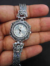 Stunning Solid Certified 925 Sterling Silver Women's Wrist Watch - 7.5 Inch
