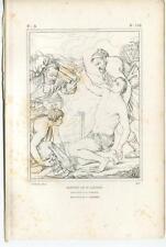 ANTIQUE CATHOLIC PATRON SAINT LAWRENCE OF ROME SAINT LAURENT OLD ART PRINT