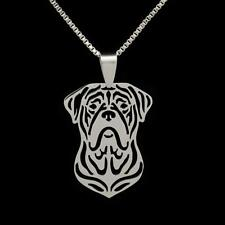 "MASTIFF NECKLACE 16"" Box Chain Stainless Steel Pendant NEW Dog Charm French"