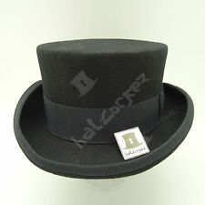 VINTAGE Wool Felt Tuxedo Topper Top Hat Men Women Short Victorian | 57cm | Black