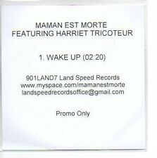 (987A) Maman Est Morte, Wake Up ft Harriet Trico- DJ CD