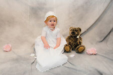 """Lisa"" is a Charming Christening Gown Handmade Using Quality Eyelet Fabric"