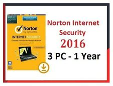 Norton internet security - 2016-latest - 3-PC-1 - année-licence clé d'activation code