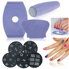 Hot Nail Art Stamping Kit Stamper/Scraper 5Image Plates/Templates Holder Tool Q