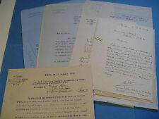 HENRI BERAUD 12 Documents militaires 1932 ORDRES MOBILISATION ARTILLERIE Signé