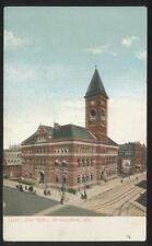 Postcard BIRMINGHAM Alabama/AL  Powers Furniture Store & Post Office view 1906