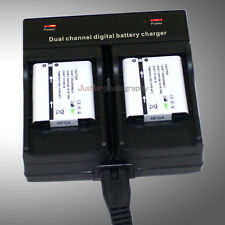 Dual Charger +2x925mAh Battery for Olympus Li-50B TG-810 iHS Stylus 500 600 800