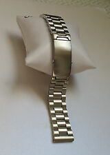 22mm HEAVY SOLID BRUSHED SPECIAL BUCKLE STAINLESS STEEL WATCH BAND,BRACELET