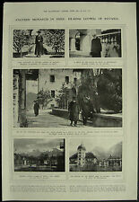 Ex King Ludwig Of Bavaria In Exile 1919 1 Page Photo Article