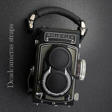 Rolleiflex TLR Limited Edition camera strap/hand strap - BLACK LEATHER