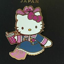 Rare!  HELLO KITTY Cowboy Metal Pin * USJ 2005