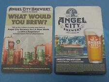 BEER Brewery Collectible Coaster    ANGEL CITY Brewery ~ Los Angeles, CALIFORNIA