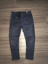 DIESEL Fayza Tapered Leg Baggy Relaxed Boyfriend Jogger Denim Jeans 25 New $295