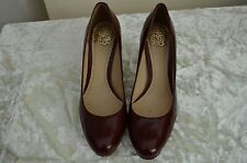 Ladies red leather court shoes heels size 5 Clarks soft sole