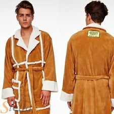 Adult Del Boy Only Fools Horses Sheep Skin Coat Fleece Bathrobe Dressing Gown