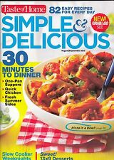 TASTE OF HOME SIMPLE & DELICIOUS AUGUST/SEPTEMBER 2015 MAGAZINE COOKBOOK QUICK