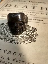 Mortality Ring : Memento mori : hand carved lucite black skull ring