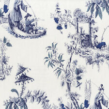 51143101 - Classic Elegance Chinese Theme Toile Blue Galerie Wallpaper