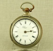 PRIOR London Spindel Taschenuhr Uhr Spindeluhr Spindeltaschenuhr watch fusee Rar