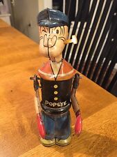 Vintage Tin Linemar Marx Chein Popeye Punching Bag Boxer Boxing Wind Up Toy