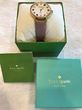 NEW! KATE SPADE Women's New York Metro Vachetta Leather Strap Watch -KSW1174