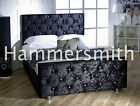 Crushed Velvet Fabric Upholstered Bed Frame 4ft, 4'6ft Double, 5ft ANY COLOUR