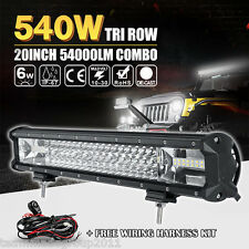 TRI-ROW 20INCH 540W OSRAM LED LIGHT BAR OFFROAD DRIVING SPOT FLOOD COMBO PK CREE