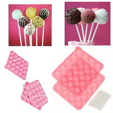 Silicone Non Stick Cake Pop Set Baking Tray Mould Birthday Party Cookware Sticks