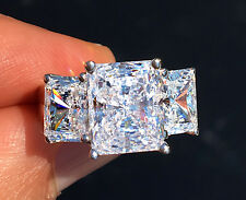 7 ct Radiant Cut Ring Top Russian Quality CZ Simulated Mossanite Imitation 9
