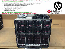 HP C7000 G2 8x HP BL460c G6 512GB RAM 8x SB40c 14.4TB SAS Storage Blade Solution