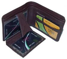 Wallet Men & Women Money Purse Leather + PU Mix Multi Slots Orbit 2357 Brown