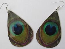 Big peacock eye dangle earring  PA1