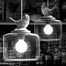 Vintage DIY Ceiling Bird Style Classic Lamp Light Glass Pendant Lighting Cafe