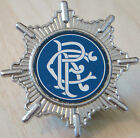 RANGERS Vintage 1970s 80s insert type badge Brooch pin in chrome 43mm x 43mm