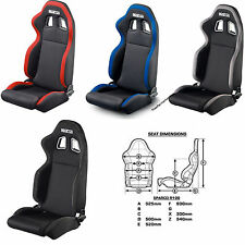 SPARCO R100 RACING SEAT STREET BLACK  BLACK/GREY /  BLACK/RED  /  BLACK/BLUE